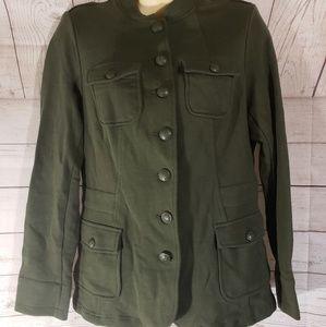 Torrid Olive Green Button Down Jacket